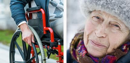 身体的障がい、高齢者